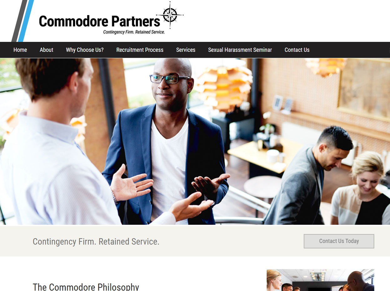Commodore Partners - Recruiting Agency Web Design