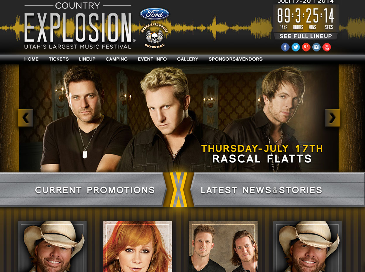 Country Music Festival Web Design