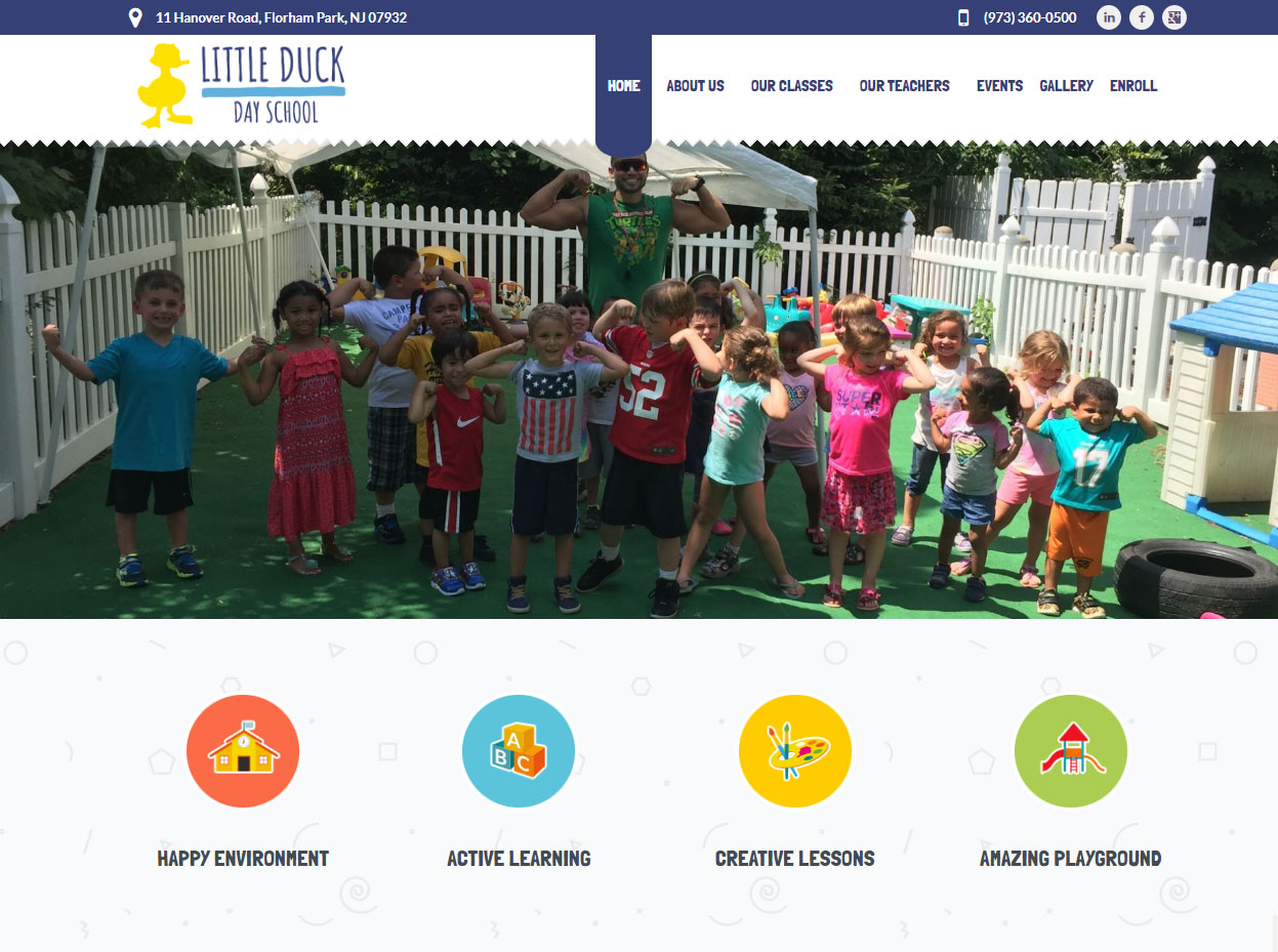 Day Care Web Design - Day School Web Design - School Web Design